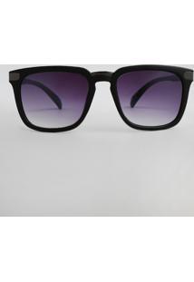 Óculos De Sol Quadrado Feminino Oneself Preto