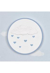 Quadro Bastidor Chuva De Amor Azul 16Cm Grão De Gente Azul