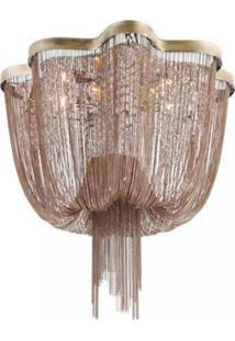 Lustre Ária 8 Lâmpadas Bella Iluminação Bronze
