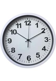 Relógio De Parede Standart Numbers- Branco & Preto- Urban