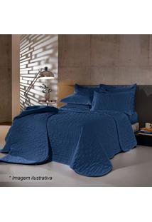 Conjunto De Cobre-Leito Reffinatta Queen Size- Azul Maribuettner