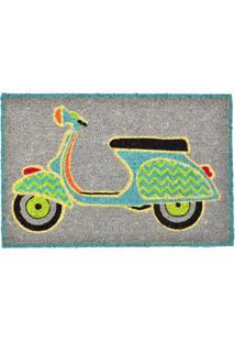 Capacho Decorando Com Classe Scooter Verde
