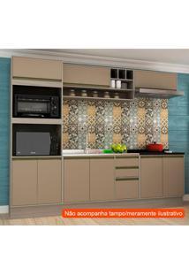 Cozinha Compacta Safira 9 Pt 3 Gv Capuccino E Creme