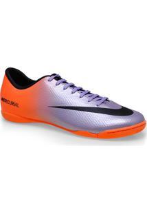 Tenis Masc Nike 555614-508 Mercurial Victory Iv Ic Roxo/Laranja