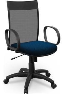 Cadeira Diretor Tela Giobel Braã§O Corsa Azul - Azul - Dafiti