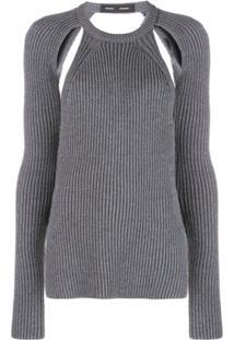 Proenza Schouler Blusa Decote Careca De Tricô - Cinza