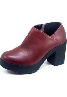 Ankle Boot S2 Shoes Couro Vinho