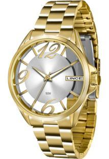 504bff3d8f6 Zattini. Relógio Lince Feminino Unissex Dourado Manual ...