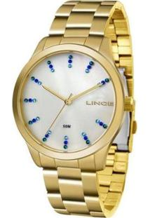 Relógio Feminino Lince Casual Lrg4445L B1Kx - Unissex-Dourado