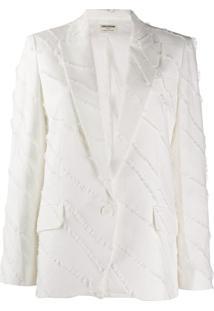 Zadig&Voltaire Blazer Com Acabamento - Branco