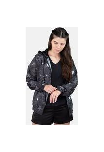 Jaqueta Corta Vento Chess Clothing Feminina Zodiac Galaxy