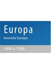 Jogo Americano Nerderia Ruas Europa Azul - Kanui