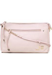 Bolsa Couro Jorge Bischoff Mini Bag Feminina - Feminino-Rosa Claro