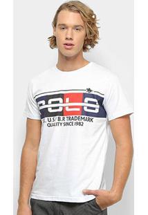 Camiseta Polo Rg 518 Masculino Careca - Masculino-Branco