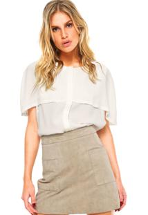 Camisa Colcci Sobreposição Branca