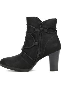Bota Ankle Boot Piccadilly Preto
