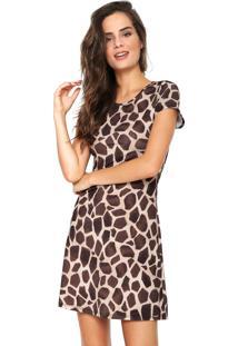 Vestido Animal Print Ombro feminino  c3dbe9eaf2a