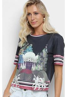 Camiseta Morena Rosa Índia Feminina - Feminino