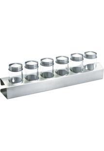 Jogo Porta Condimentos Para 6 Potes D 80Ml - Unissex