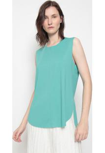 Blusa Lisa Com Recortes-Verdeosklen