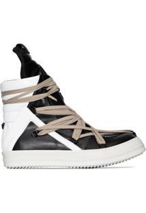 Rick Owens Geobasket High-Top Sneakers - Preto