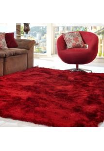 Tapete Silk Shaggy Premium Bordô 1,40M X 2,00M