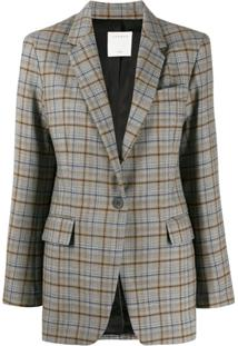 Sandro Paris Checked Pattern Blazer - Cinza