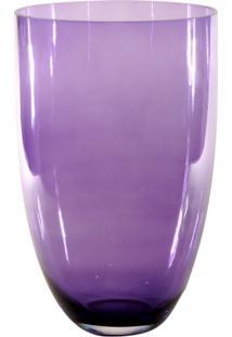 Vaso Bianco E Nero 30X19Cm Lilás