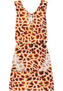 Vestido Estampado Babado Renda Girafa - Lez A Lez