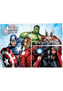 Painel Decorativo Avengers 126X88Cm Regina