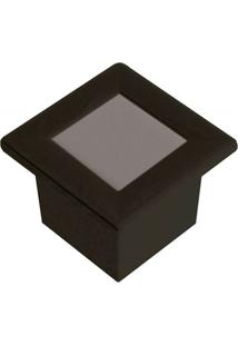 Luminária Embutida Quadrada Em Alumínio 9,6Cm Preta
