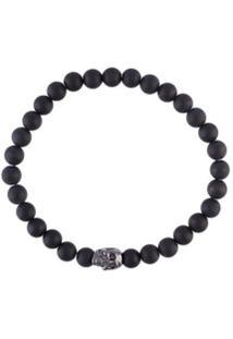 Nialaya Jewelry Pulseira De Ônix - Preto