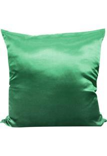 Capa Para Almofada Cetim Liso 45X45 - Perfil Matelados - Verde Agua