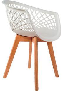 Cadeira Web Wood Branca