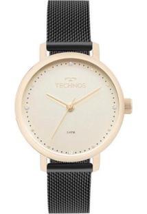 Relógio Technos Feminino Trend Bicolor - 2035Mml/5X 2035Mml/5X - Feminino-Preto