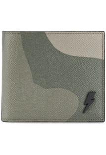 Neil Barrett Carteira Com Estampa Camuflada De Couro - Verde