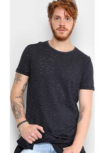 Camiseta Triton Estampada Destroyed Masculina - Masculino-Chumbo