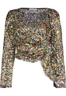 Attico Blusa Com Paetês - 021 Multicoloured