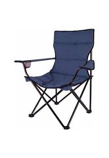 Cadeira Dobrável Boni Poliéster Aço Esmaltado 290430 Ntk