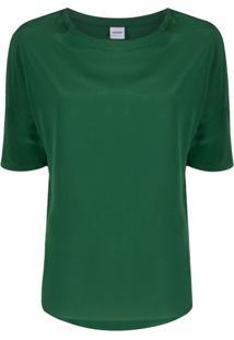 Aspesi Blusa Oversized De Seda - Verde
