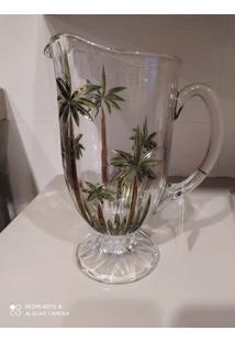 Jarra Decorativa De Cristal Coqueiro