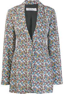Victoria Beckham Blazer Com Estampa Floral - Branco