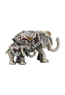 Porta Jóia Elefante Em Zamac 4 X 6 X 4 Cm - Unissex