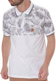 Polo Manga Curta Masculina No Stress Branco