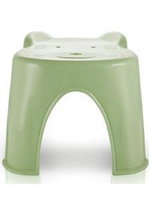 Banquinho Banco Anatômico Infantil Criança Com Formato De Ursinho Jacki Design Verde