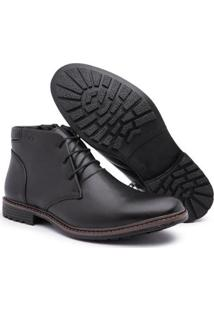Bota Top Franca Shoes Masculino - Masculino-Preto