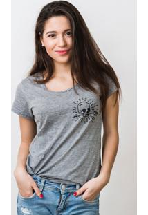 Camiseta Basica Mirat Skull Gota Mescla