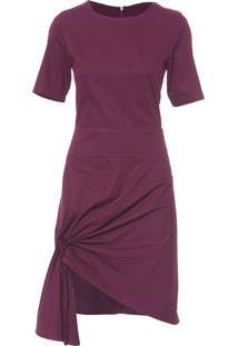 Vestido Raio - Vinho
