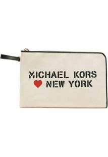 Michael Michael Kors Carteira The Michael Com Estampa - Neutro
