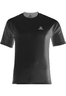Camiseta Comet Ss Tee Masculino Preto M - Salomon